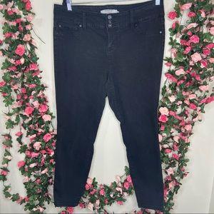 Torrid Black Faded Skinny Jeans Womens 18S